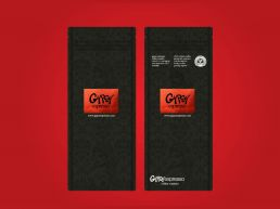 Gypsy Espresso Coffee Bag Design With Red Foil Block