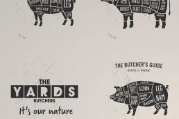 The Yards Butchers Packaging Wrapping Paper Design